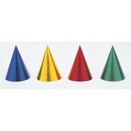 Prism Party Hats, Assorted Pack Of 8
