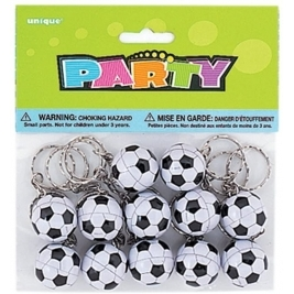 12 Soccer Ball Key chains Party Bag Fillers  - 84802