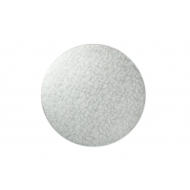 Round Silver Double Thick Cards 10 Inch - 10Pk