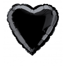 Black color Heart Shaped Foil balloons 18