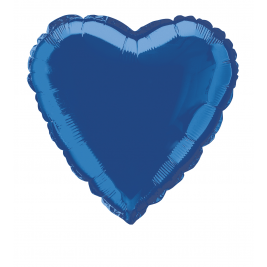 Royal blue Heart Shape Foil balloon 18