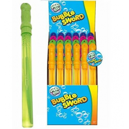24 x Bubble Swords Stick Wand Assorted Colours 120ml Party Summer Fillers Toys Wholesale Box
