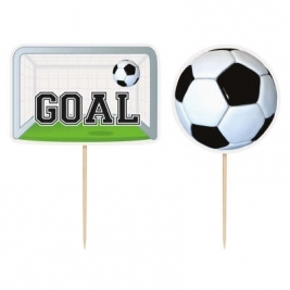 6 3D SOCCER CAKE TOPPERS