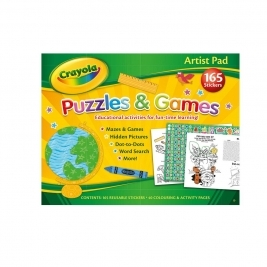 Crayola Artist Puzzles and Games Pad