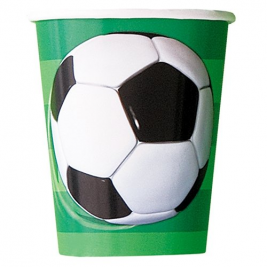 3D Soccer 9 OZ. CUPS - Pack of 8