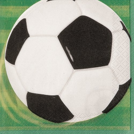 3D Soccer LUNCHEON NAPKINS - Pack of 16