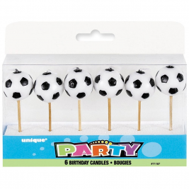 SOCCER BALL PICK BIRTHDAY CANDLES 31/4