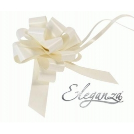 Eleganza Poly Pull Bows Ivory - 30mm x 30pcs
