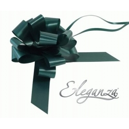 Eleganza Poly Pull Bows Green - 30mm x 30pcs