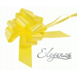 Eleganza Poly Pull Bows Yellow - 50mm x 20pcs