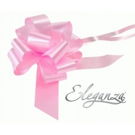 Eleganza Poly Pull Bows Light Pink - 50mm x 20pcs