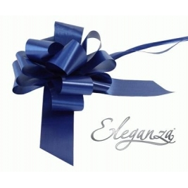 Eleganza Poly Pull Bows Navy Blue - 50mm x 20pcs