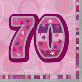 70th BIRTHDAY16 CT  Luncheon Napkins   Pack of 16
