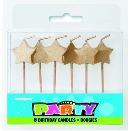 Twinkle Twinkle Gold Star Picks (6pk)