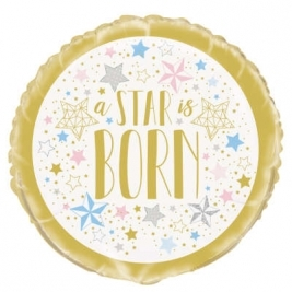 A Star is Born - Round Foil Balloon 18 Inches
