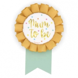 Mum to Be - Foil Baby Shower Badge - Foil Stamped