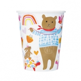 Baby Shower Zoo 9oz Paper Cups Pack of 8