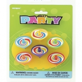 Plastic Spinning Top Party Bag Fillers, Pack of 8