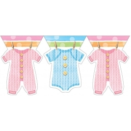 Baby Clothes Plastic 12ft Flag Banner