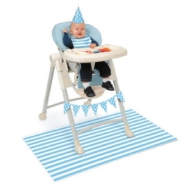 Blue Birthday High Chair Decorating Kit