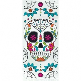 Cellophane Skull Day of the Dead Halloween Party Bags - Pack of 20