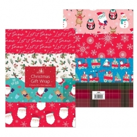 Christmas Gift Wrap - Pack of 8 Sheets