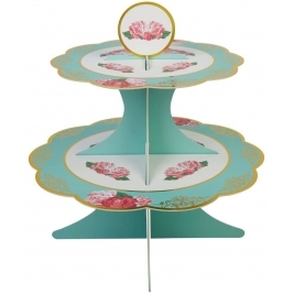 Eternal Rose Cake Stand - Turquoise