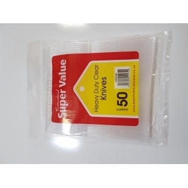 Extra Value Heavy Duty Plastic Knives 50Pk