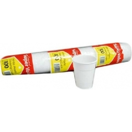 Extra Value White Cups 100Pk