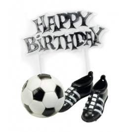 Football Boots & Football & Happy Birthday Cake Decoration Kit