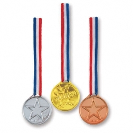 Gold Silver & Bronze Winner Medals