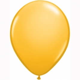 Goldenrod Plain Latex Balloons 11