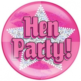 Hen Party Holographic Dot Jumbo Badge 6