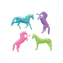 Pearlized Stretchy Horse Favors 8ct