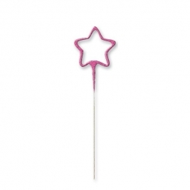 Pink Glitz Star Shaped Sparkler
