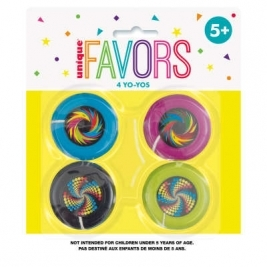 Plastic Yo-Yo Favors 4ct