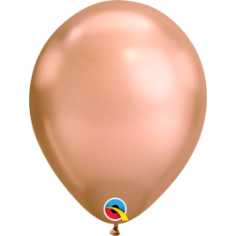 Rose Gold Chrome Latex Balloons 11