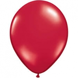 Ruby Red Plain Latex Balloons 11
