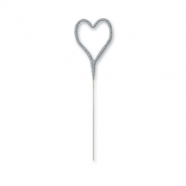 Silver Glitz Heart Shaped Sparkler