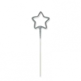 Silver Glitz Star Shaped Sparkler