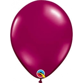 Sparkling Burgundy Plain Latex Balloons 11