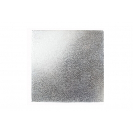 Square Silver Double Thick Cards 18 Inch - 10PK