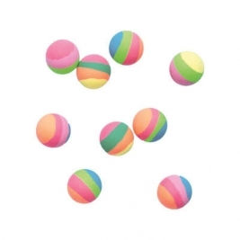 Unique Wow Party WOW 8 x Pastel Striped Bouncy Ball Party Bag Fillers Pack of 3 Balloons - 84709