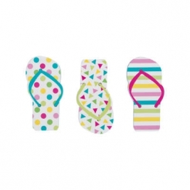 Unique Wow Party WOW Pack of 12 Flip Flop Notepad Party Bag Fillers Pack of 3 Balloons - 84770
