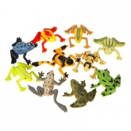 Unique Wow Party WOW Pack of 8 Frogs Party Bag Fillers Pack of 3 Balloons - 84785