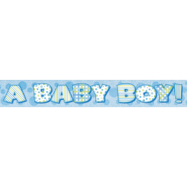 A BABY BOY PRISMATIC BANNER 12 FT