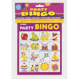 PARTY BINGO FOR 8 PARTY GAME