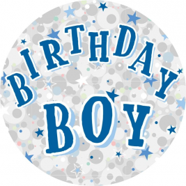 Birthday Boy Party Badge 15cm