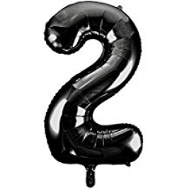 Black Foil Balloon Number 2 - 34
