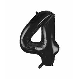 Black Foil Balloon Number 4 - 34